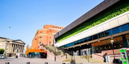 Green wall at Liverpool St. Johns
